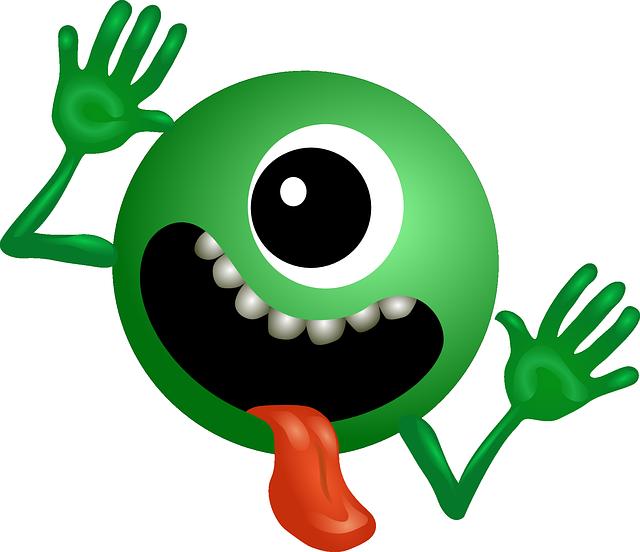 Green Monster Ball Mascot