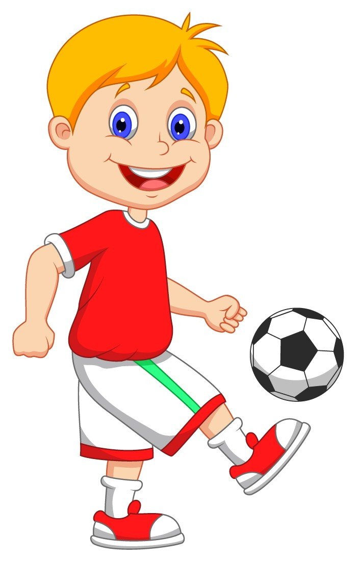 Young Soccer Player Mascot