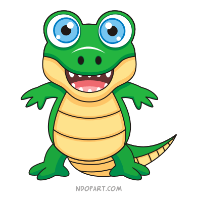 Cute Alligator Mascot