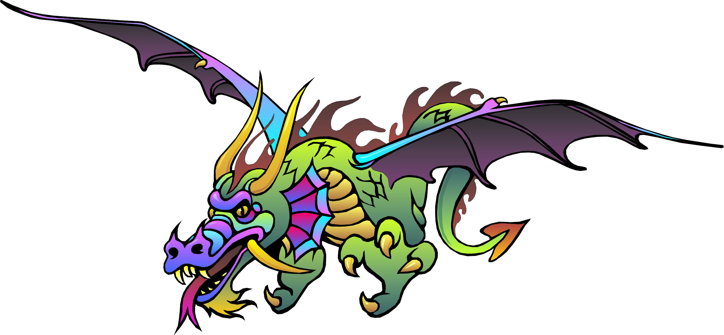 Rainbow Dragon Mascot