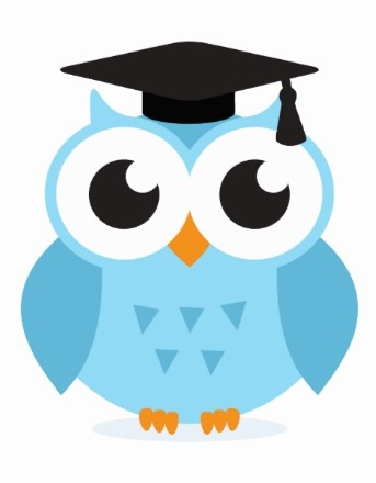 Wise Owl Mascot on Cute Preschool Clip Art