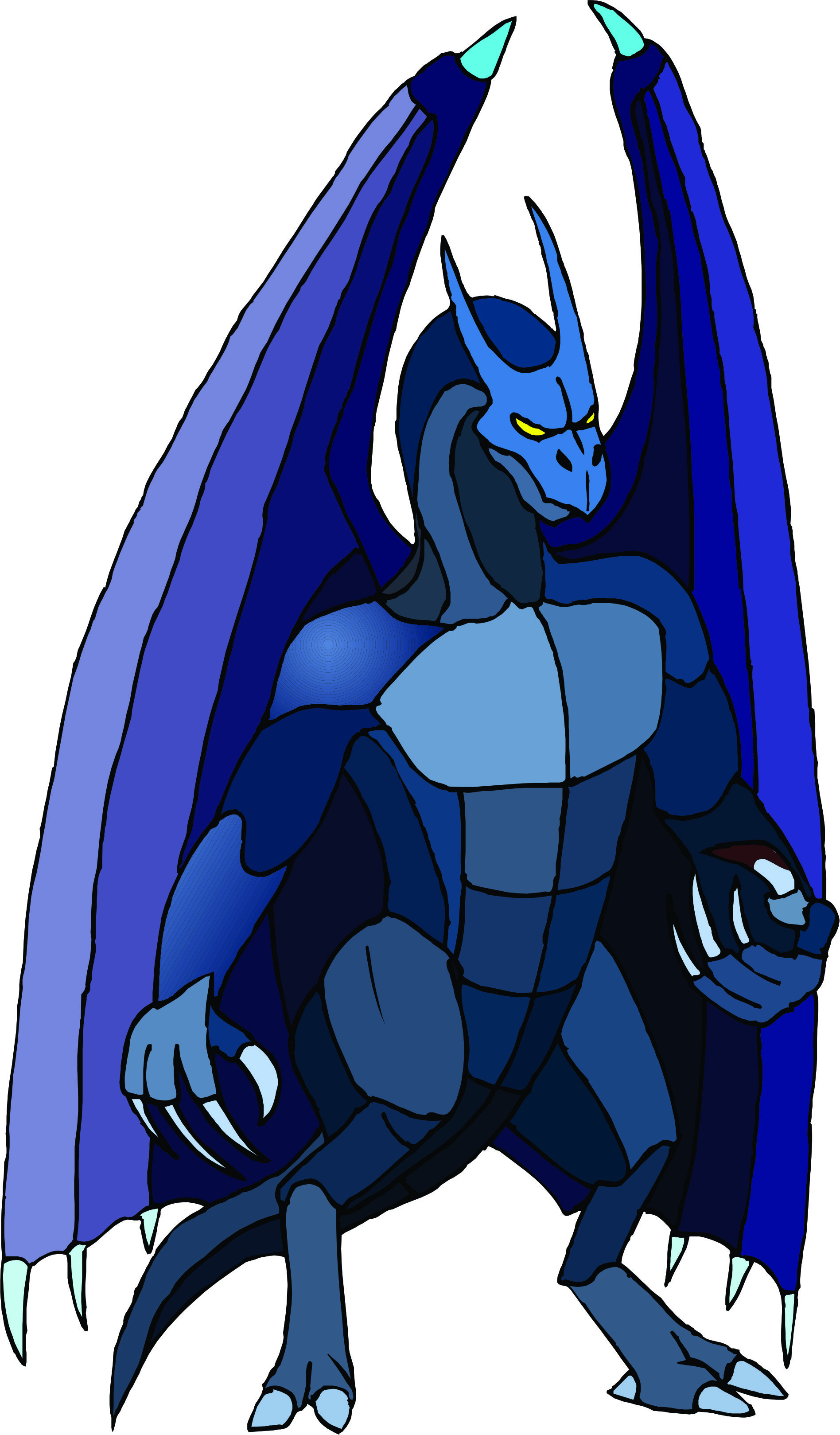 Blue Drake Dragon Mascot