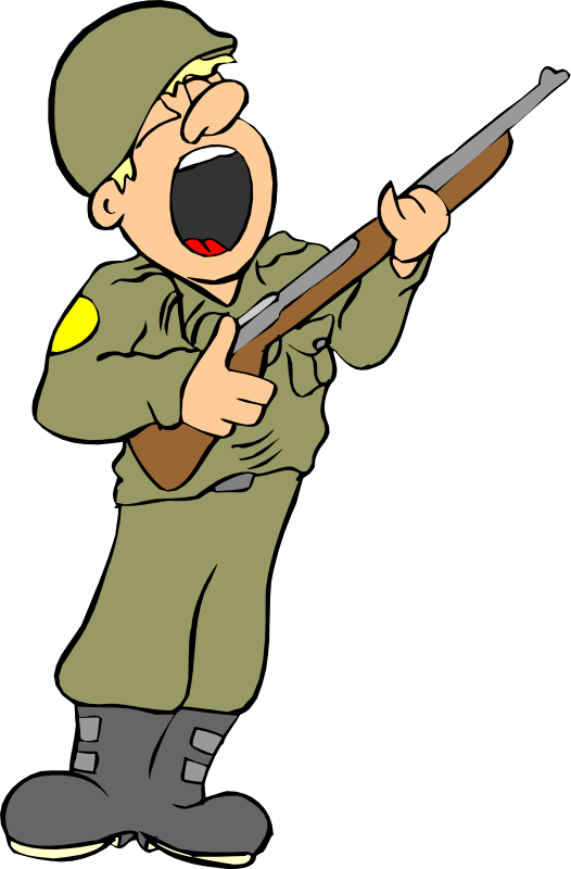Singing Soldier Mascot