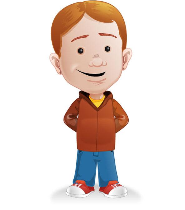 Young Man Mascot