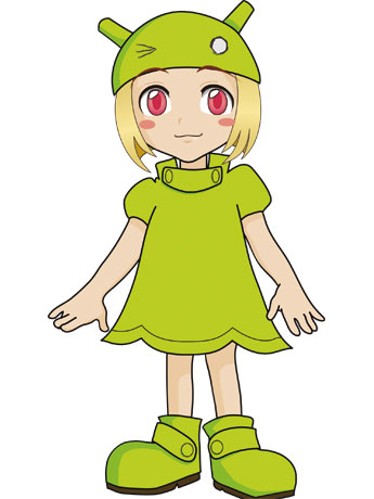 Android Girl Mascot