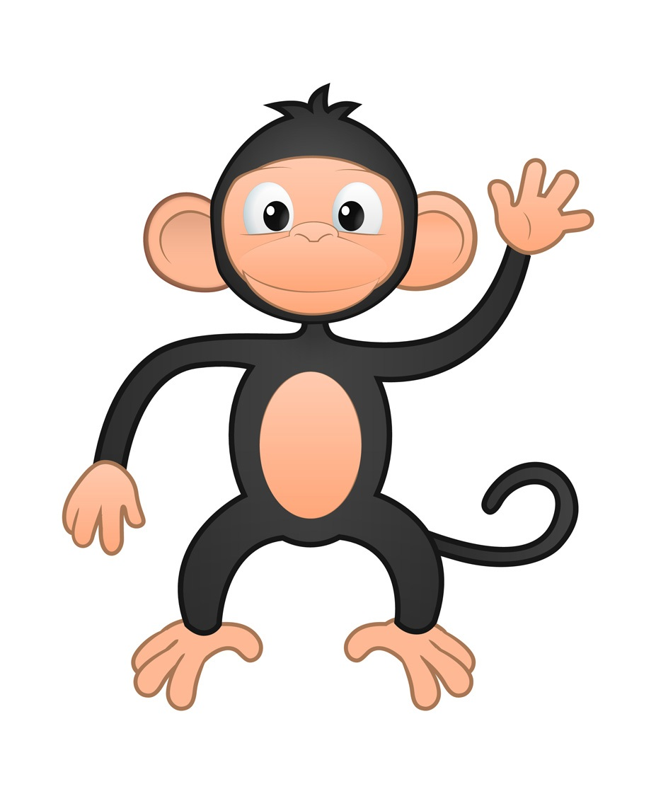 Happy Monkey Mascot