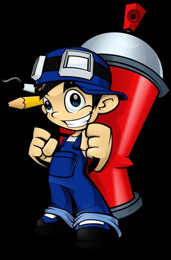 Paint Boy Mascot