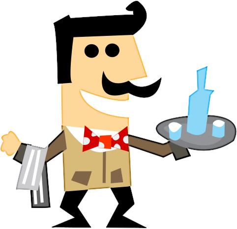Italian Waiter Mascot