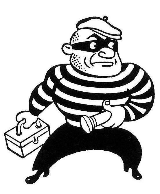 Burglar Mascot