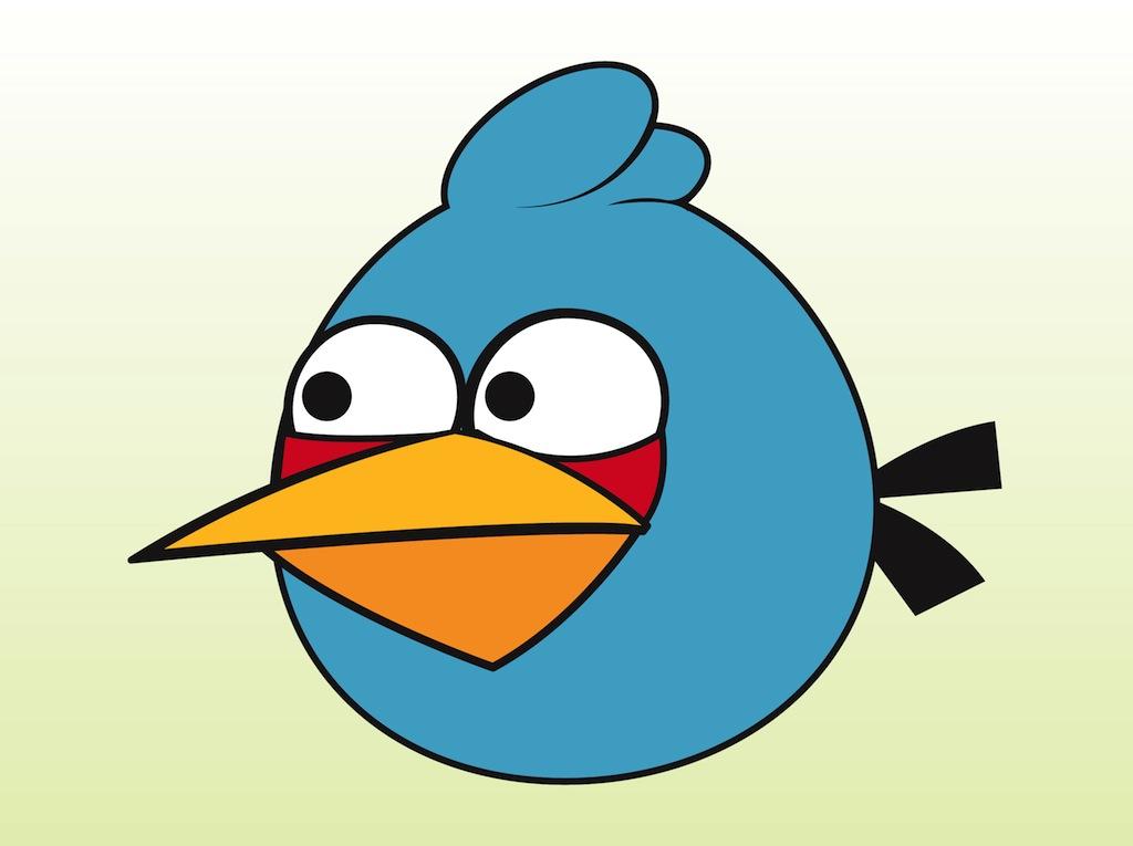 Blue Angry Bird Mascot