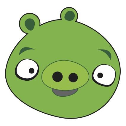 Green Pig Mascot