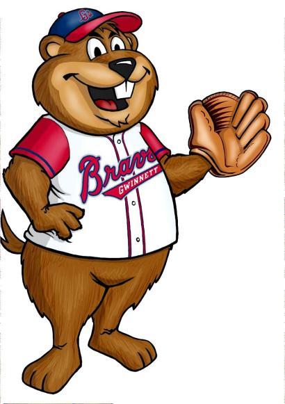 Beaseball Beaver Mascot