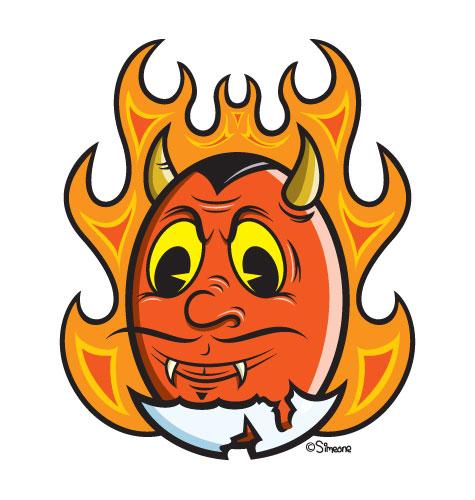 Devil Egg Mascot