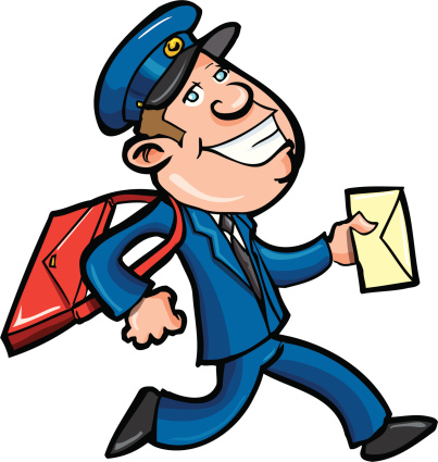Happy Postman Mascot