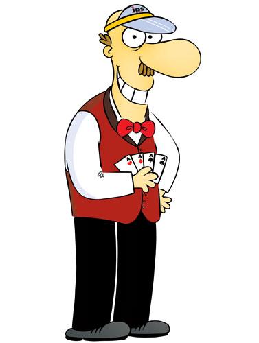 Casino Dealer Mascot