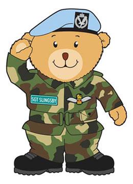 Military Bear Mascot