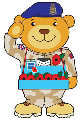 Soldier Teddy Bear Mascot