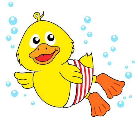 Swimming Ducky Mascot