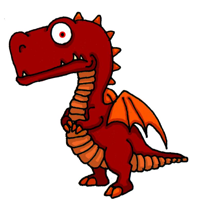 Small Red Dragon Mascot