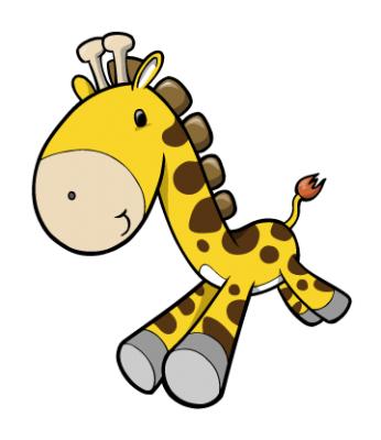 Cute Giraffe Mascot