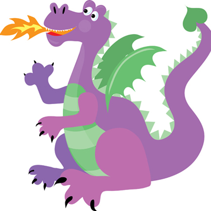 Purple Dragon Mascot