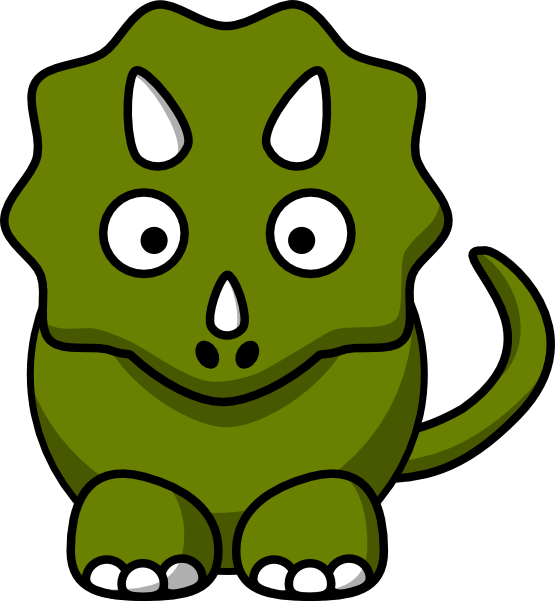 Green Triceratops Mascot