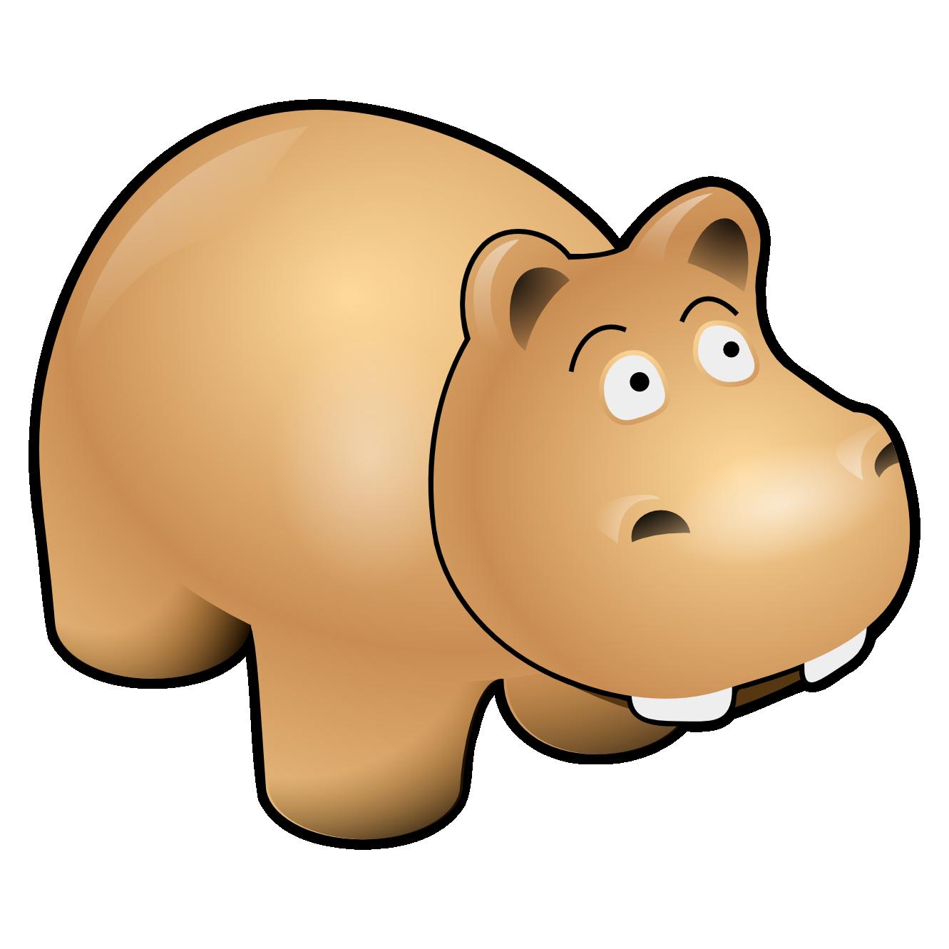 Cute Hippo Mascot