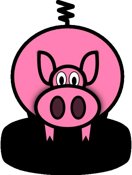 Fat Pink Pig Mascot