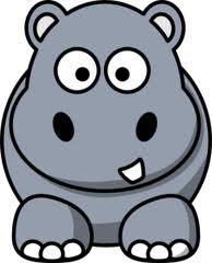 Cute Hippopotamus Mascot