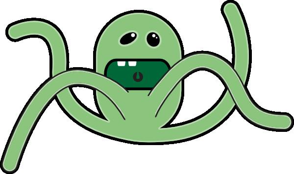 Alien Octopus Mascot