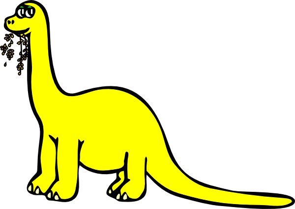 Yellow Dinosaur Mascot