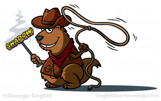Cowboy Beaver Mascot