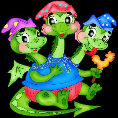 3 Headed Baby Dragon Mascot