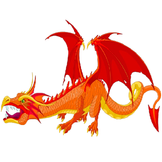 Fire Dragon Mascot