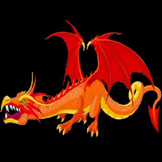 Fire Dragon Mascot