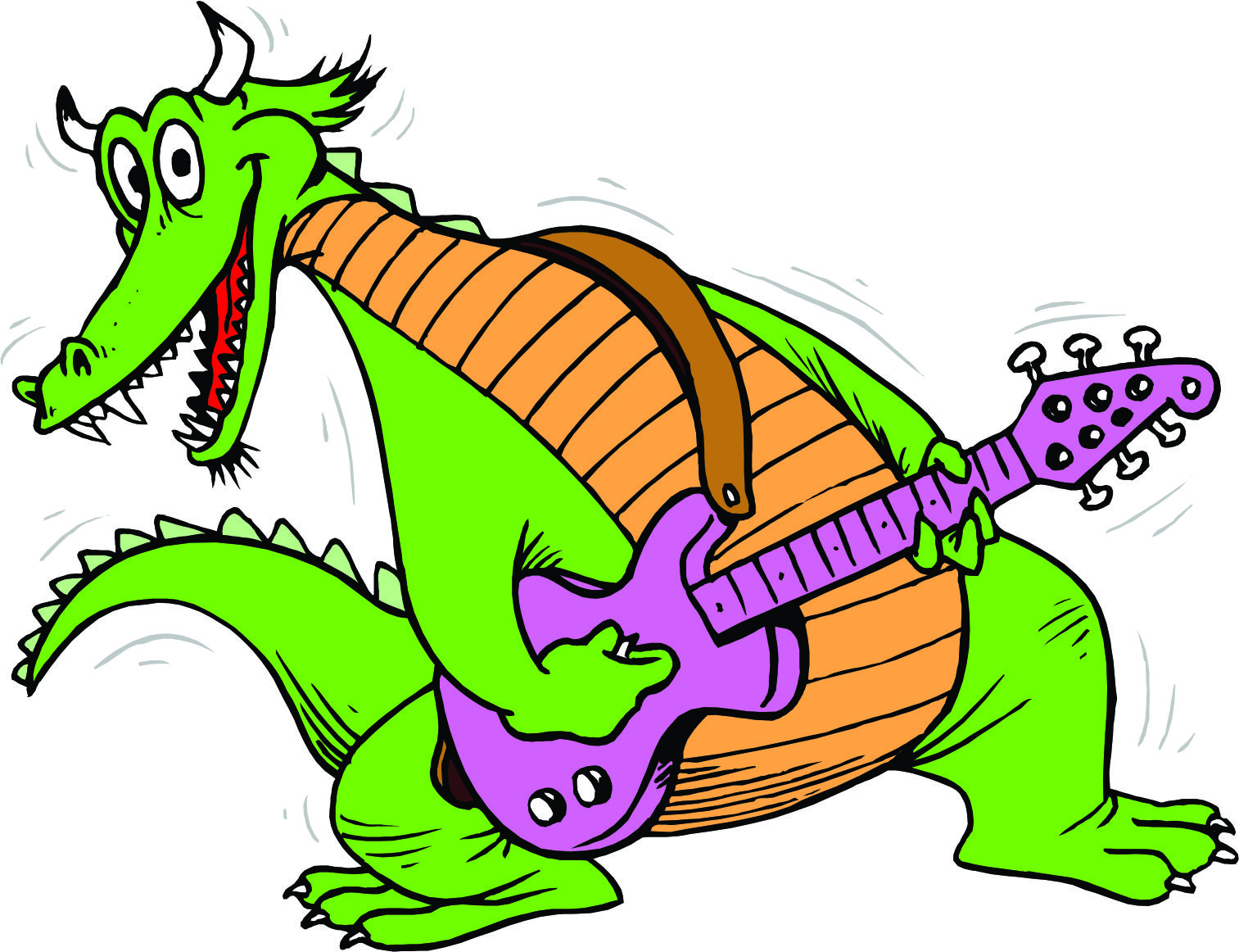 Dragon Guitarist Mascot