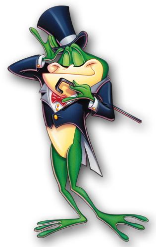 Gentleman Frog Mascot