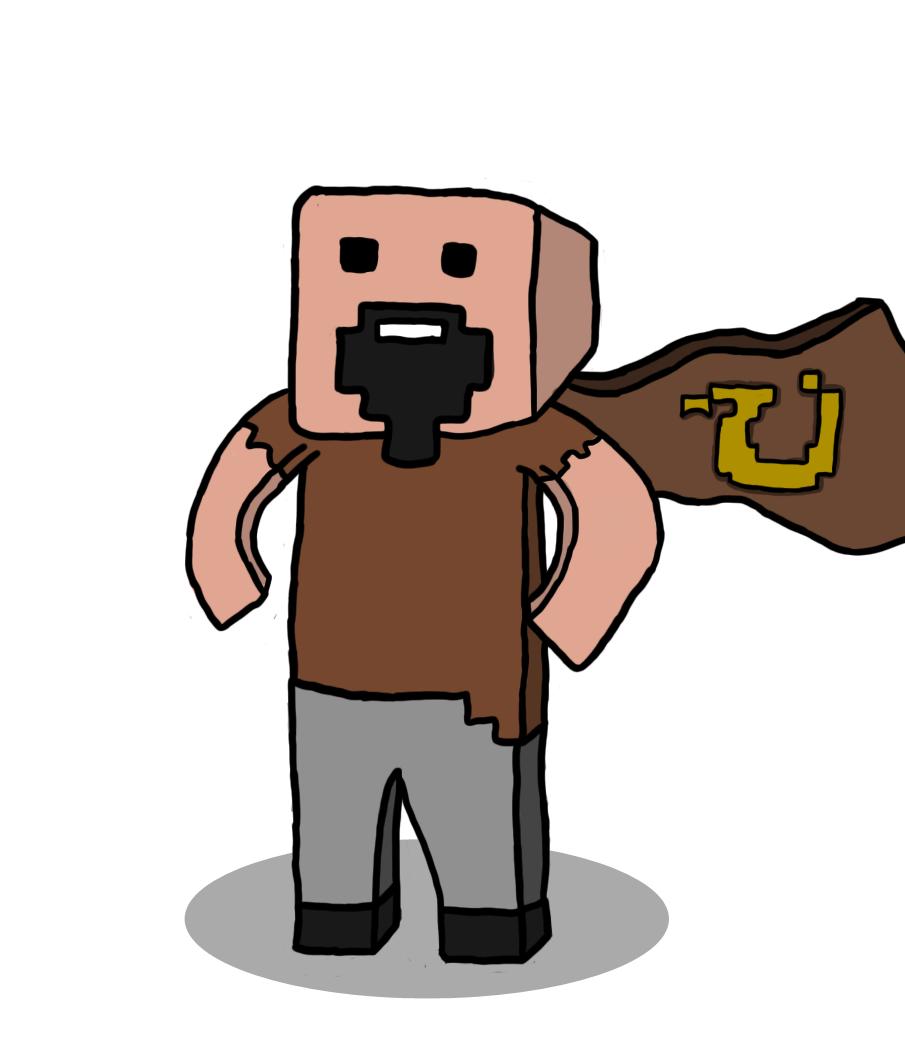 Minecraft Guy Mascot