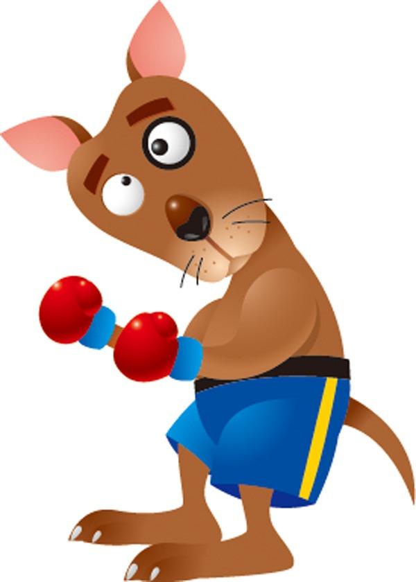 Boxing Kangaroo Mascot