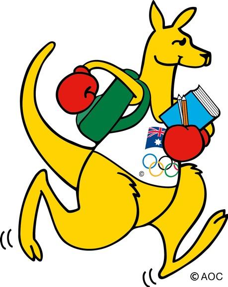 Olympic Kangaroo Mascot