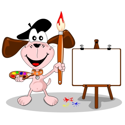 Painter Dog Mascot