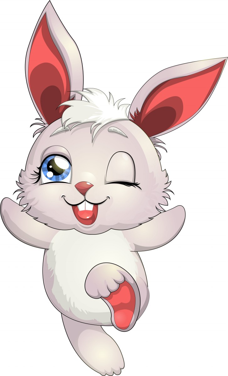 Happy Bunny Mascot