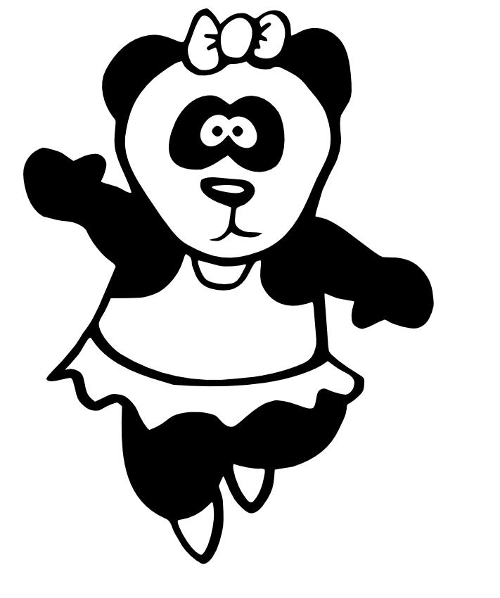 Ballerina Panda Mascot