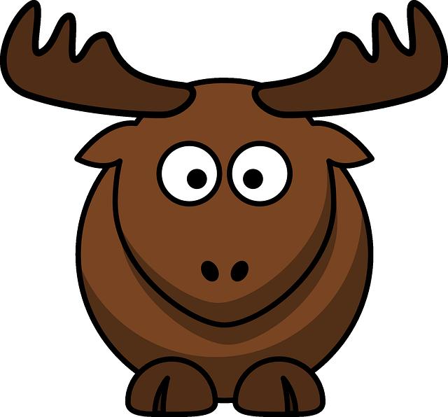 Cute Moose Mascot