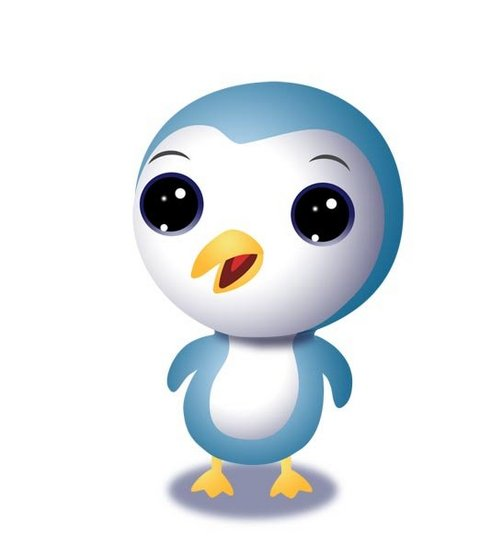 Cute Blue Penguin Mascot