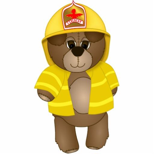 Fire Fighter Bear Mascot