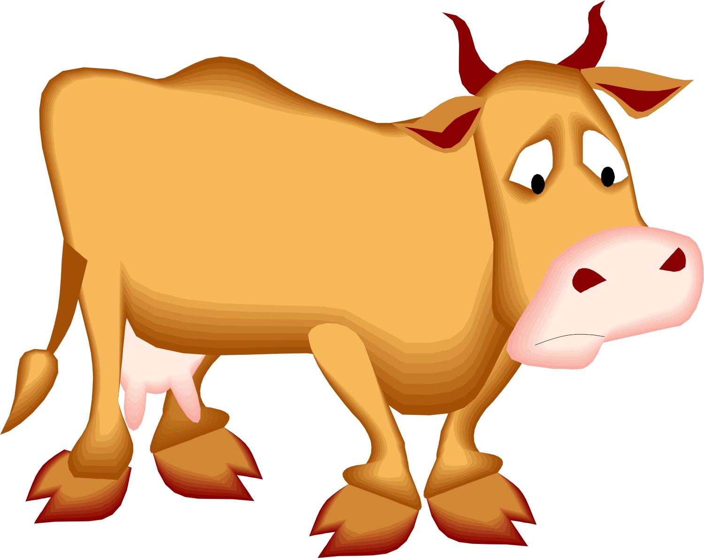 Sad Cow Mascot