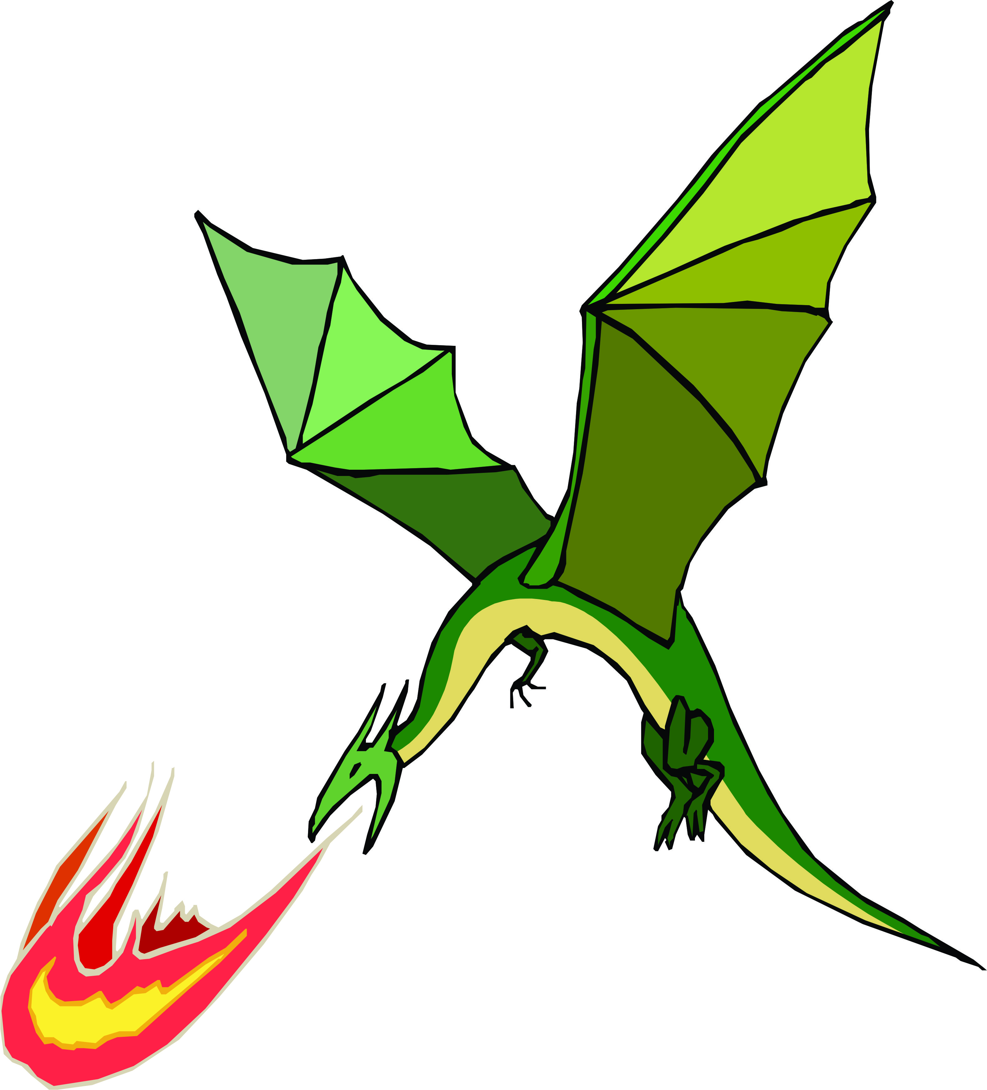 Fire-Breathing Green Dragon Mascot