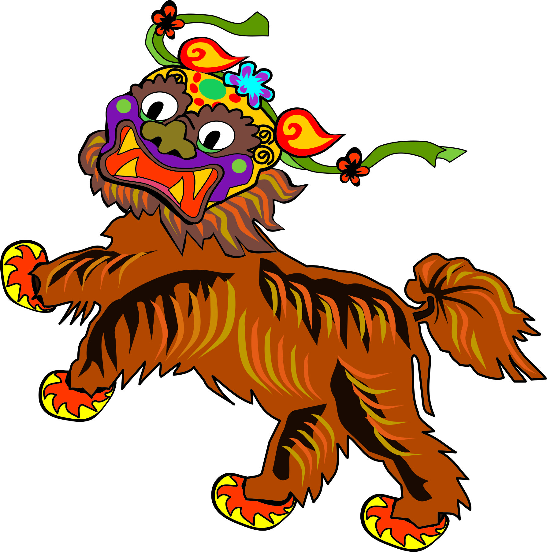 Dragon Tiger Mascot
