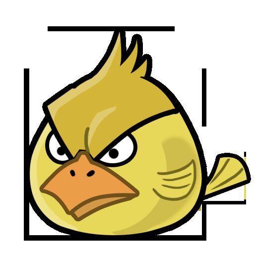 Angry Yellow Bird Mascot